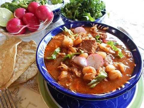 Red Pozole. Red Pozole - Pozole Rojo with Pork - YouTube