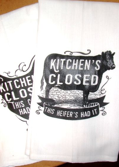FLOUR SACK  Kitchens closed heifer