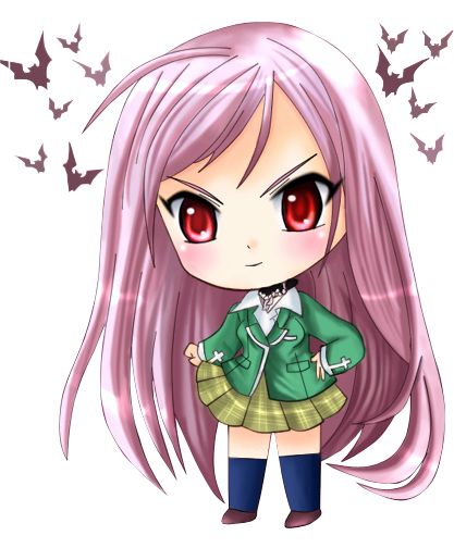 Rosario vampire Chibi Inner/Outer Moka...how does this work lol?