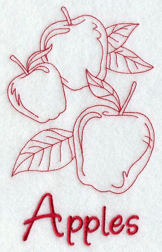 Apples (Redwork) http://www.emblibrary.com/EL/Products.aspx?ProductID=F8734=Emblibrary