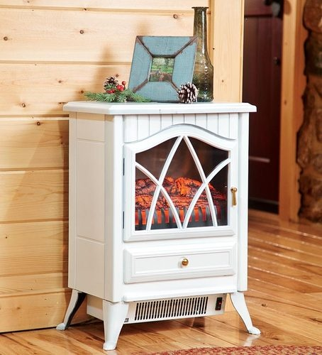 Compact Electric Portable White Fire Place Fireplace Heater Temp Flame Control | eBay