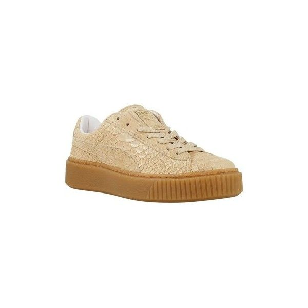 Puma Platform Exotskinwn Shoes (Trainers) (£153) ❤ liked on Polyvore featuring shoes, sneakers, beige, trainers, women, puma footwear, puma trainers, platform sneakers, beige sneakers and beige shoes