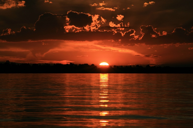 Vaal Dam Sunset in South Africa