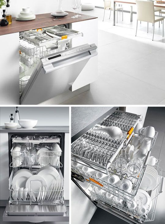 "Miele dishwasher in 24"" or 18"". A separate level just for silverware! Quietest and Reidel approved.  Now if it would just put them away!"