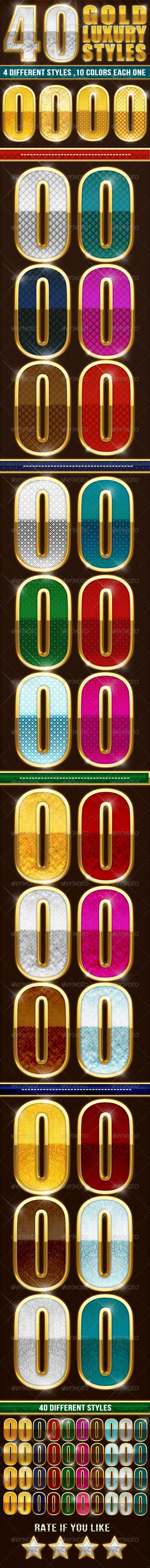40 Elegant Gold Luxury Styles - Text Effects Styles