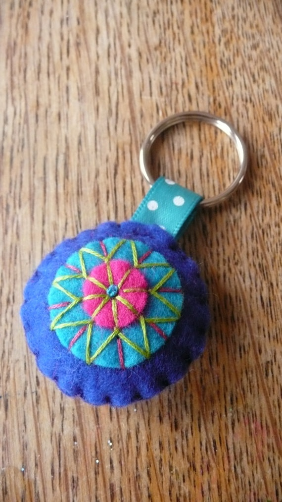 Felted key chain