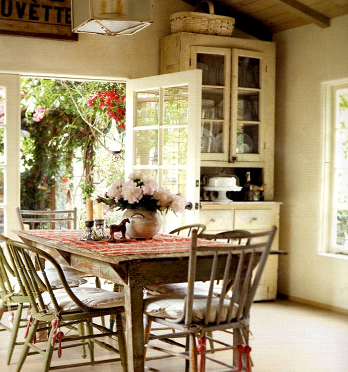 ....Decor, Dining Area, Cottages Kitchens, Dining Room, Breakfast Nooks, French Doors, Diningroom, French Country Kitchens, Dining Tables
