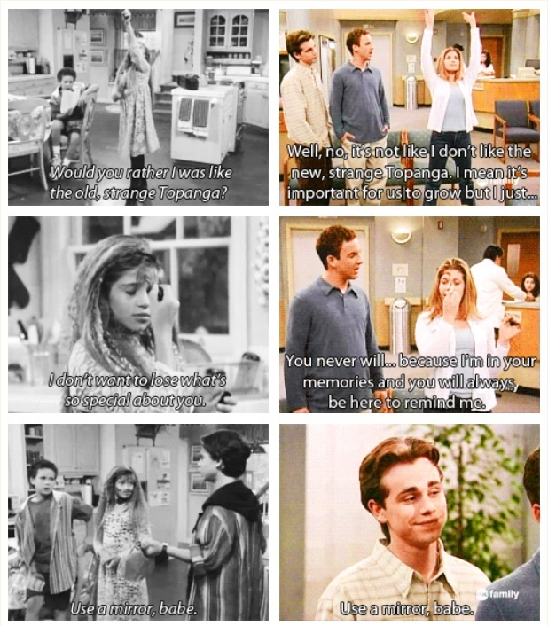 Boy Meets World! One of the most memorable moments of the show :)