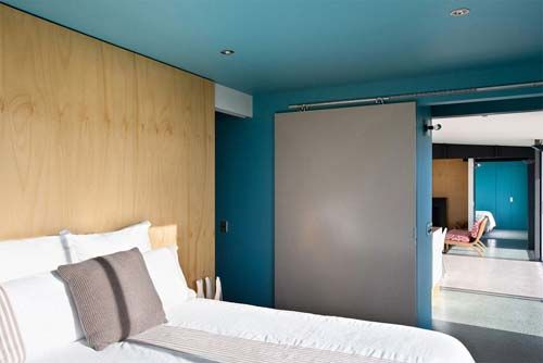 Pekapeka Beach House, Holiday House Design by Parsonson Architects - Bedroom view