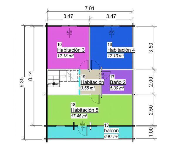 Plano 2 Casa de Madera Torrevieja