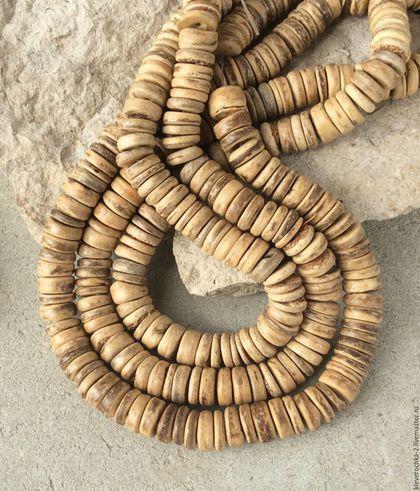 Для украшений ручной работы. Ярмарка Мастеров - ручная работа. Купить Кокос 10 мм - нить 10 см пестрый шайба рондель бусины для украшений. Handmade.