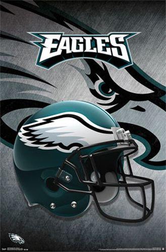 Philadelphia Eagles Official NFL Football Team Theme Helmet Logo Poster - Trends International