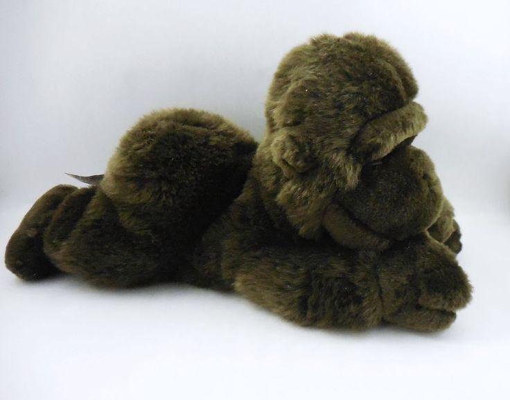 Aurora plush Baby Gorilla, Thumb Sucking floppy stuffed animal, monkey, ape #Aurora