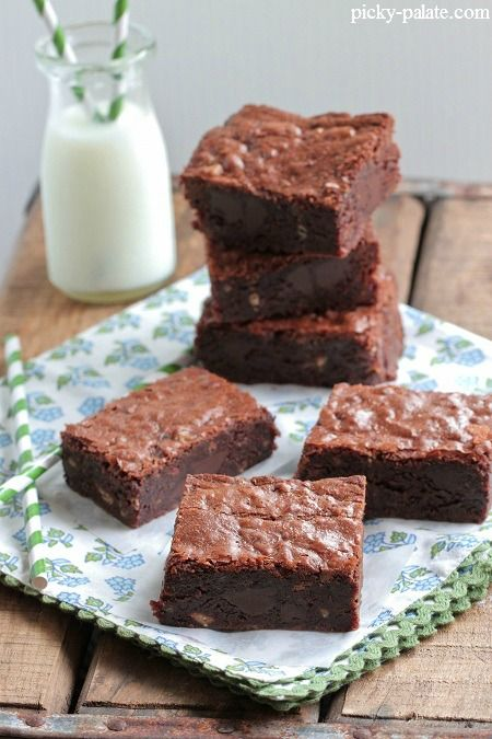 One Bowl Chocolate Chunk and Toffee Chip Brownies 1