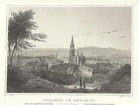 Baden-Baden,Binnigheim, Freudenstadt, Kaiserstuhl,Mannheim, Stuttgart,Ulm. Alte Ansichten.