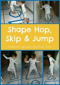 Physical: Walking or jumping in or around the shapes helps to develop gross motor skills.