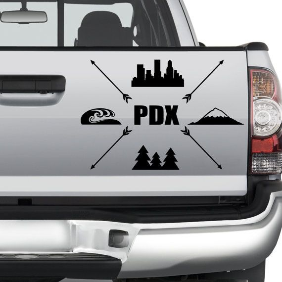 Portland pdx vinyl decal car sticker graphic for car truck window laptop door anywhere