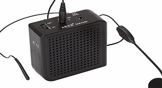 Aker Portable Voice Amplifier 16watts MR2200 For Costumes Props Electronic sound effects MP3 player Teach Sound covers over 6,000 square feet Small and portable. Can be worn inside a costume in many different ways Comes with adjustable waist Can also be used MP3 speaker. T (Barcode EAN = 6951697050523) http://www.comparestoreprices.co.uk/latest2/aker-portable-voice-amplifier-16watts-mr2200-for-costumes-props-electronic-sound-effects-mp3-player-teach.asp