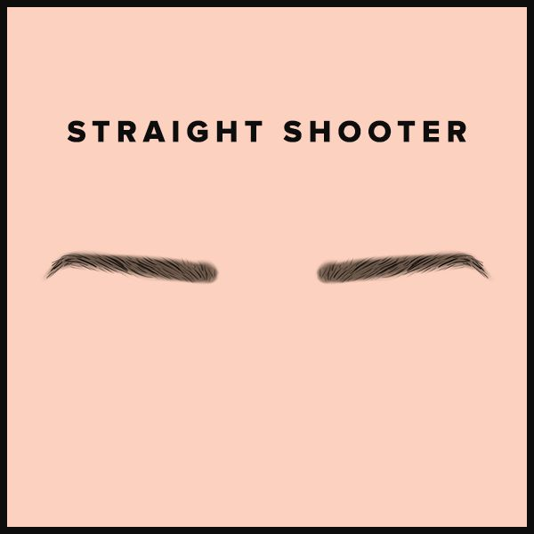 illustration of straight eyebrows