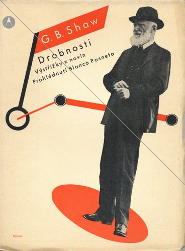 George Bernard Shaw. Trivia II. 1933. Output? Cuttings from newspapers - Scans Graphic design by Ladislav Sutnar, (1897-1976).