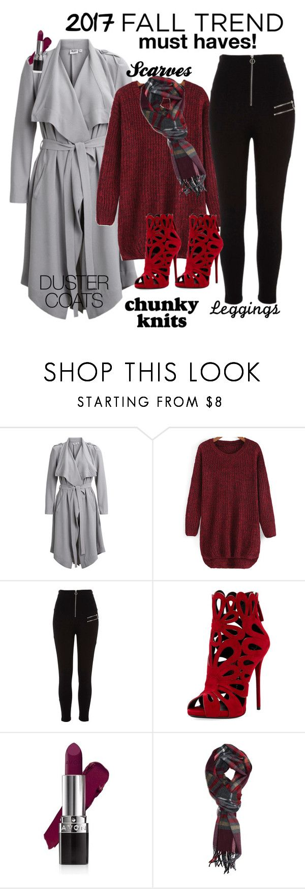 """""""Autumn Trends 2017"""" by dobesht ❤ liked on Polyvore featuring Object Collectors Item, River Island, Giuseppe Zanotti and Avon"""