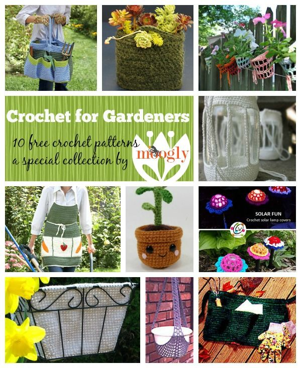 Crochet the Outdoors: 10 Free Crochet Patterns for Gardeners!
