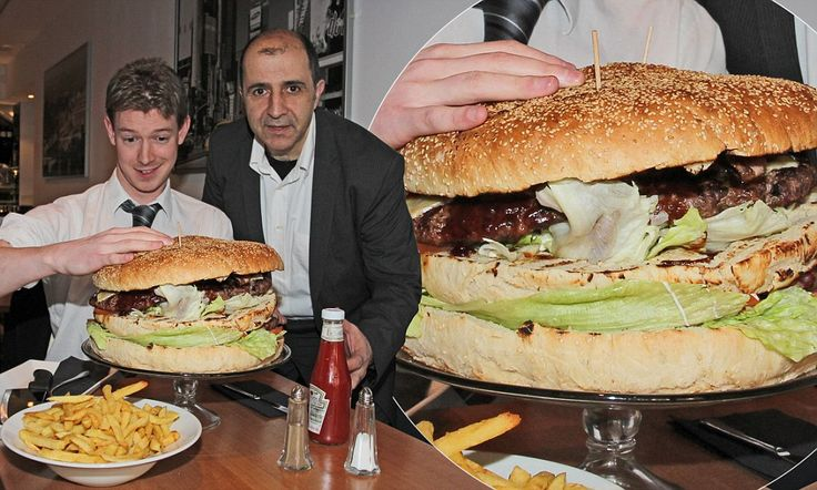 Britain's biggest burger! 'The Beast' is 18,000 calories, has 7lbs of beef and 9 rashers of bacon | Mail Online