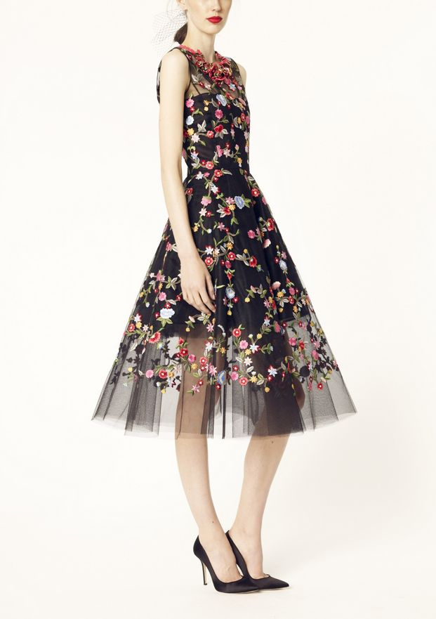 Oscar de la Renta pre-spring 2014...Change the fabric to fit wedding theme but keep the detail. Can change the embelllishments to fit your bugdet & wedding theme. Ask your dressmaker for suggestions.