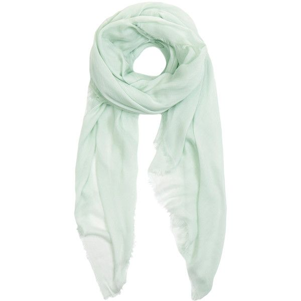 Furla Ariel Mint Green Misto Modal Scarf ($57) ❤ liked on Polyvore featuring accessories, scarves, green, green shawl, lightweight shawl, furla, mint green scarves and mint scarves