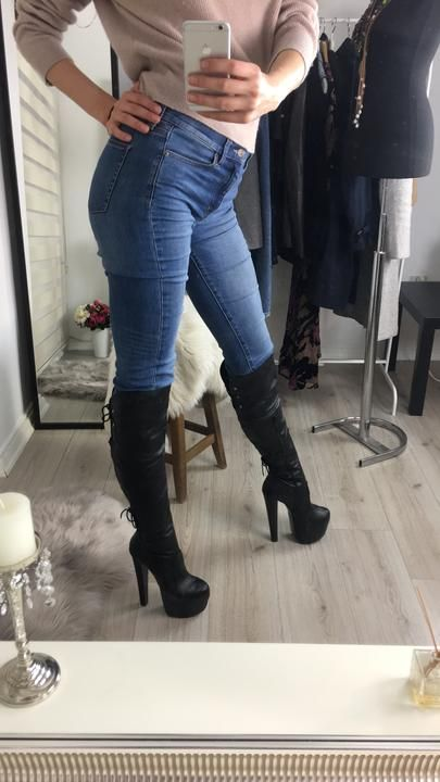 1e6bdacb8a1 Black Stylish Over The Knee Boots in 2019
