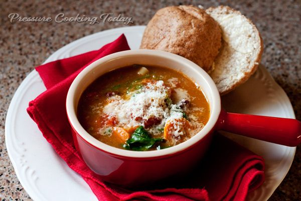 Pressure Cooker Minestrone Soup with Basil Pesto | Pressure Cooking ...