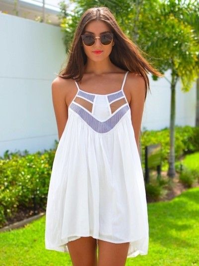 White dress - cut detail - hippy style find more women fashion ideas on www.misspool.com