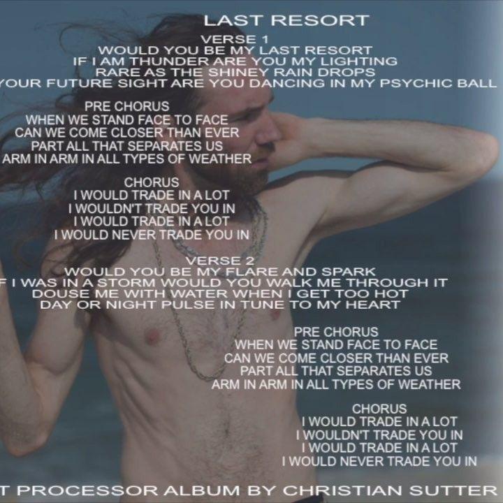 LastResort #WorldsBestProcessor #ChristianSutter #AlbumArt
