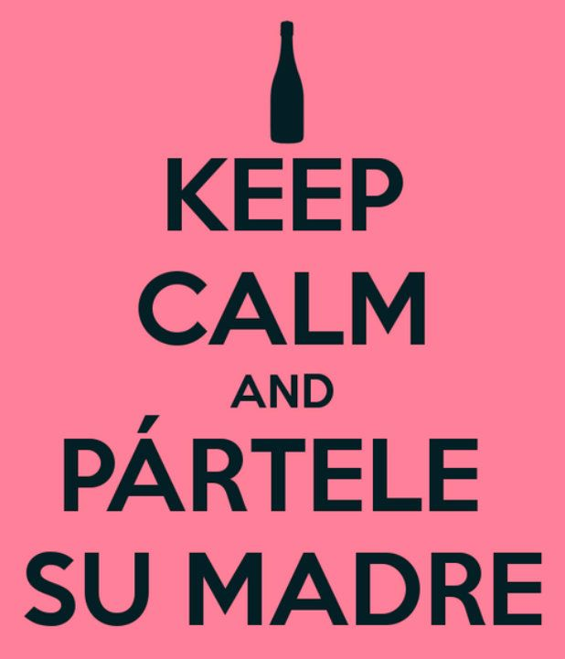 Keep calm and partele su madre