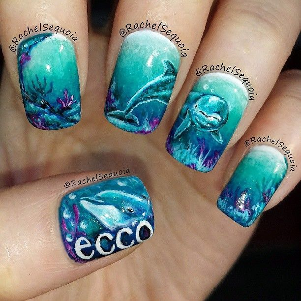 Instagram photo by Rachel Sequoia. Absolutely incredible!! - 18 Best Dolphin Nails Images On Pinterest Dolphin Nails, Dolphins