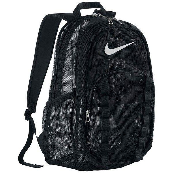 Nike Brasilia XL Mesh Backpack ❤ liked on Polyvore featuring bags, backpacks, mesh bag, knapsack bag, mesh backpack, nike knapsack and nike
