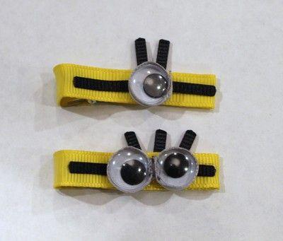 minion hair clips!
