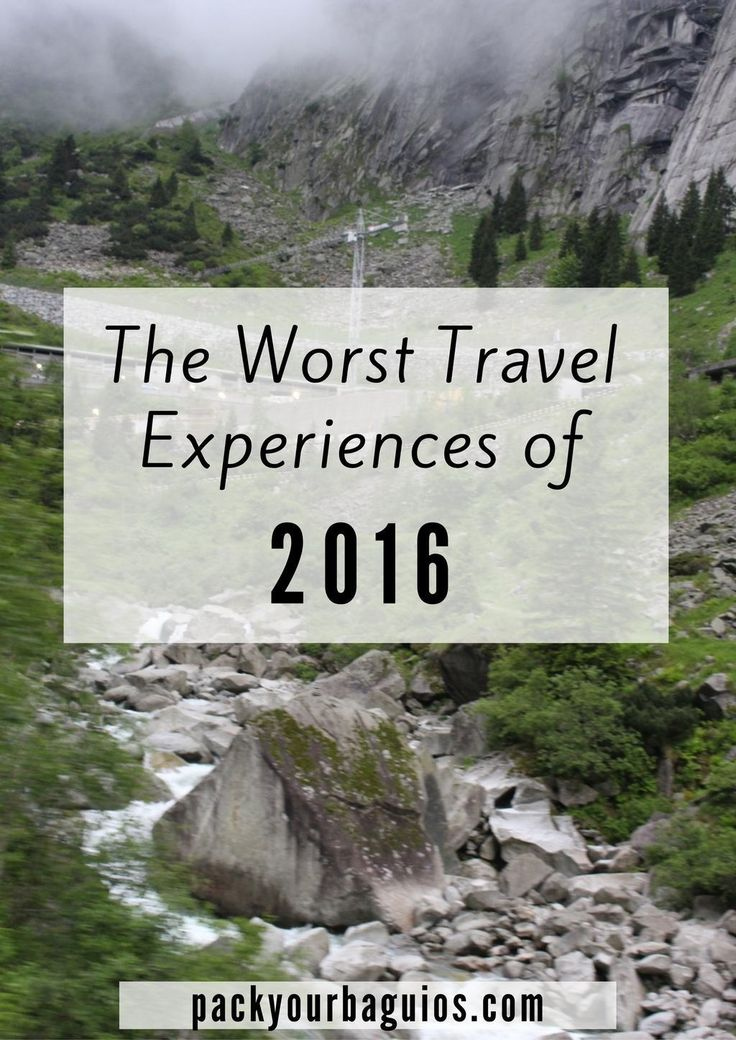 The Worst Travel Experiences of 2016--so as we look back on 2016, there were some travels experiences that we definitely would hope to never repeat.  It won't keep us from loading up the truck or boarding a plane.  The pluses of travel add so much to our quality of life.  BUT, let's not experience those unwanted adventures again.