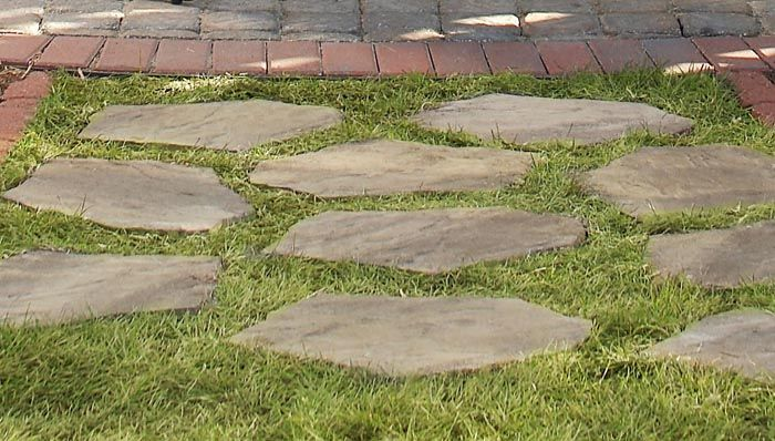 Lowe's instructions for Stepping Stone Walkway.
