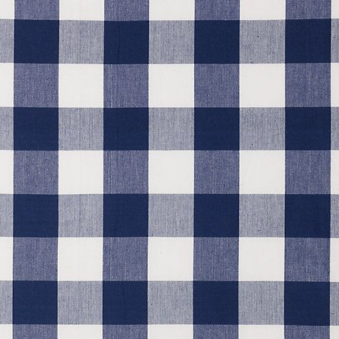 Buy John Lewis Large Check Pencil Pleat Curtains, Navy Online at johnlewis.com  Boys bedrooms
