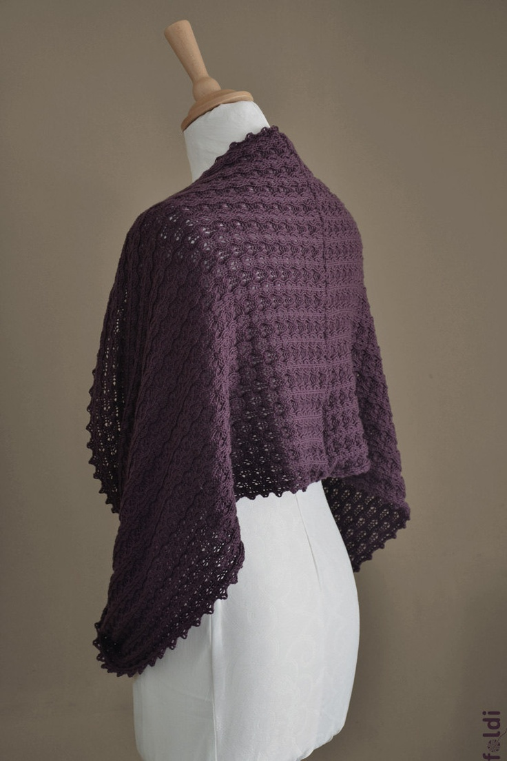 Knitted cowl, merino wool mbius scarf, wool cowl, snood, knitted wrap in eggplant  purple colour 'Tuck'