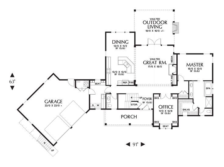 63 best house plans images on pinterest   floor plans, arquitetura