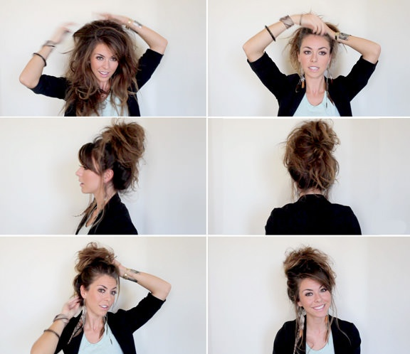 How To: Messy Updo for a Fabulous Look! - www.hairstylesguru.com