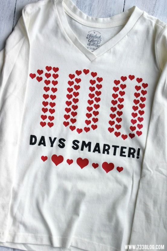 100 Days Smarter made with the Cricut Explore