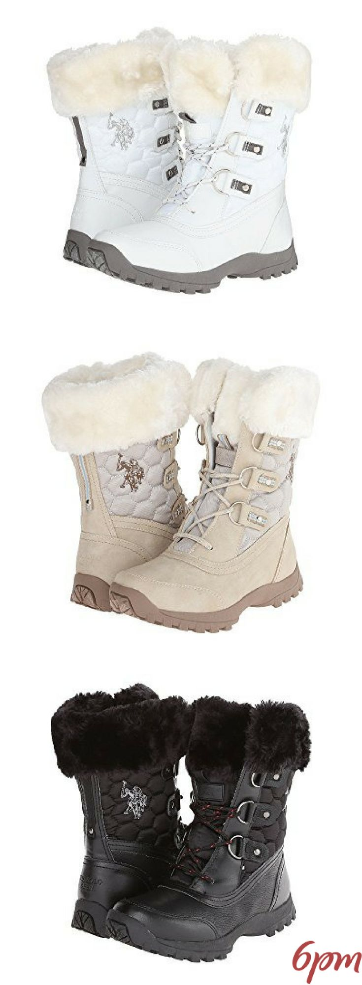 U.S. POLO ASSN. Artic Boots #winterboots #articboots #snowboots #cuteboots #stylishboots #whiteboots #boots #white #snow #affiliate