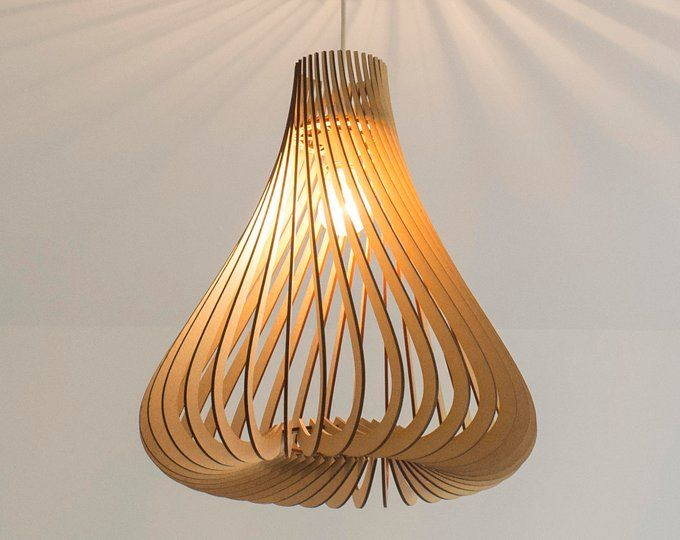 Twisted Lasercut Wooden Lampshade No 1 Wooden Lampshade Wooden Pendant Lighting Wooden Light Fixtures