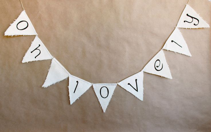 Oh Lovely Bunting - Cute rustic garland - Kids room decoration - Childrens decor - Charming Wedding | Felt