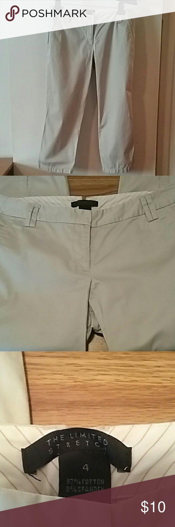 The Limited Brand Fabulous Khaki Capris Fabulous Khaki Capris. ....Size 4......97% Cotton 3% Spandex. ...Stretch The Limited Pants Capris