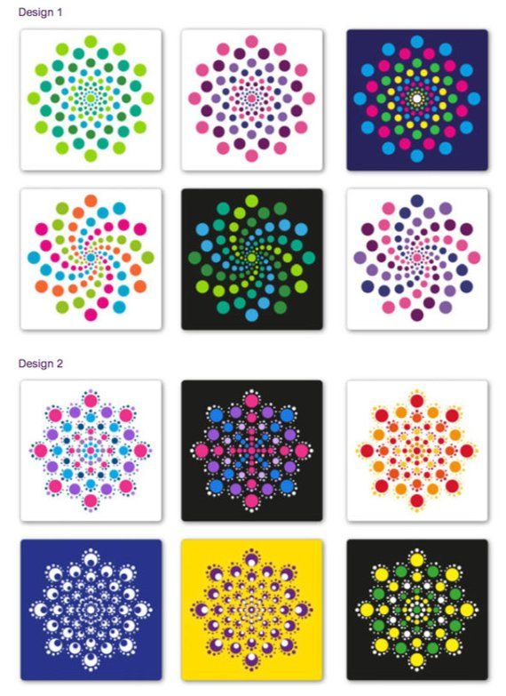 Dot Painting Mandala Kit , 9 dot painting tools, stencil, guide and more – hb