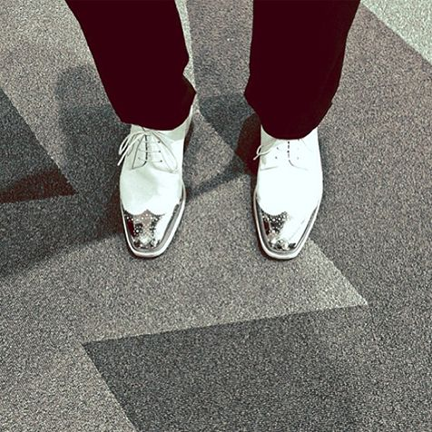 Justin Timberlake shows off his VMA shoes via Instagram on Saturday, Aug. 24 flipping love
